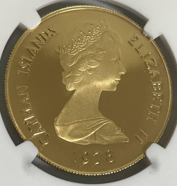 【3枚限定】イギリス領ケイマン諸島 FIVE QUEENS 100ドルプルーフ金貨 PF68UC 5ポンドの大きさ エリザベス ビクトリア肖像 _画像2