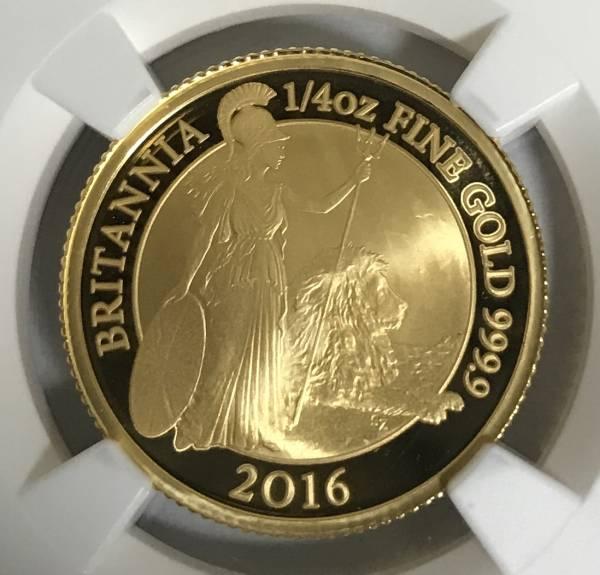 【残存6枚】2016 イギリス ブリタニア25ポンド金貨 NGC PF69UC ER元箱付き 初期製造 送料無料 希少_画像1