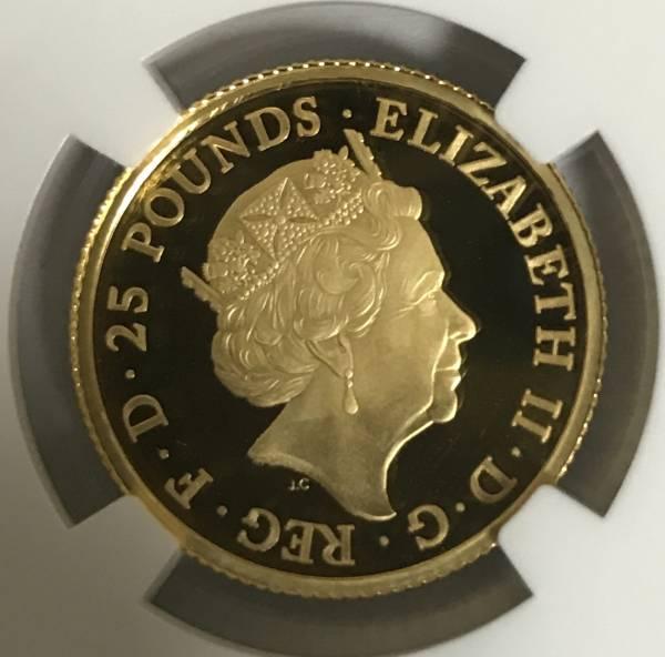 【残存6枚】2016 イギリス ブリタニア25ポンド金貨 NGC PF69UC ER元箱付き 初期製造 送料無料 希少_画像2