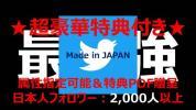 【★超豪華特典付き★】日本人 属性指定可能 最高品質 Twitterアカウント(フォロワー2,000人以上/日本人比率99%以上/フェイク率1%以下)
