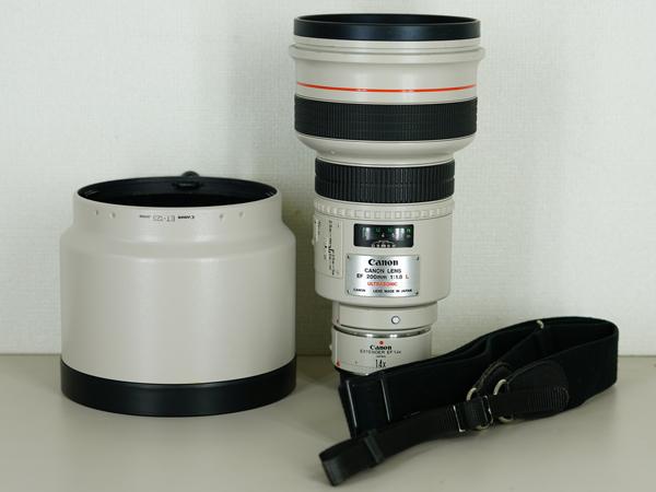 1円~Canon 絶版希少 EF 200mm F1.8 L USM + 1.4 エクステンダー キャノン EF200mmで最も明るい 単焦点 望遠レンズ 防湿庫保管品で光学綺麗