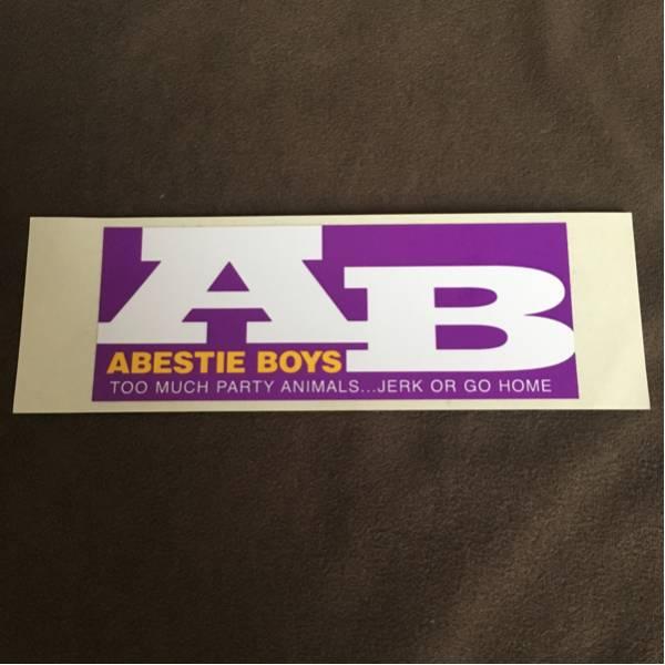ABESTIE BOYS アベスティ ボーイズ ステッカー 紫 /GAUZE GISM
