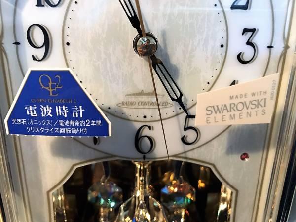 (31)スワロフスキー 置時計 クイーンエリザベス 美品_画像2