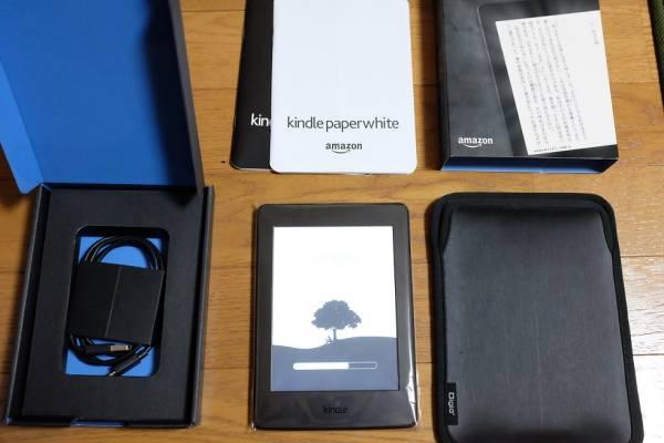 【美品】Kindle Paperwhite 第7世代 Wi-Fi ブラック(キャンペーン情報なし)スリップインケース付き