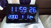 LED 置き時計 掛け時計 美品 ブルー