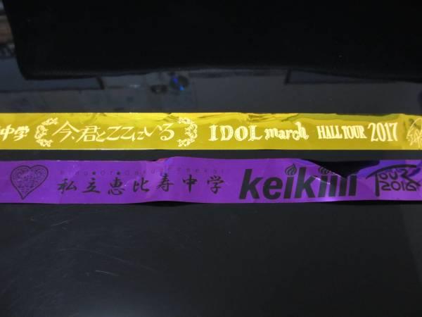 私立恵比寿中学 銀テープ 2本セット 2016 Keikiii 紫 2017 今、君とここにいる 黄色 ツアー 廣田あいか 星名美怜 柏木ひなた 安本彩花