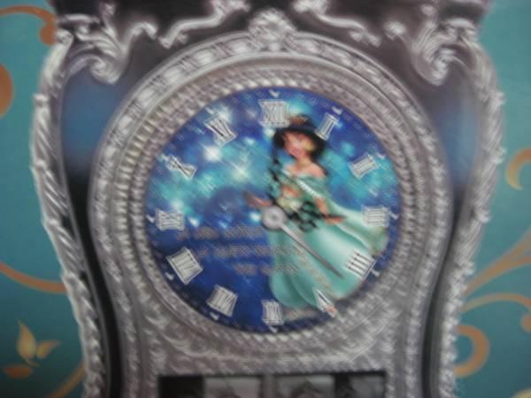 41ディズニー アラジン ジャスミン キャッスルクロック 置時計 ディズニーグッズの画像