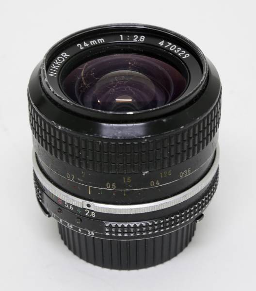 ニコン広角単焦点マニュアルフォーカスレンズ! Nikon Ai NIKKOR 24mm F2.8(現状品)