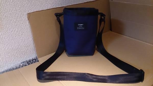 CUNE キューン チョークバッグ ミニショルダーバッグ セカンドバッグ ブルー×イエロー 肩紐付き※USED品/使用頻度低め/2014年プロダクト_コンパクトで使い勝手がいい