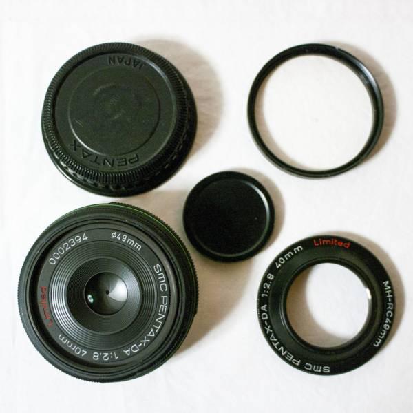 ◆ジャンク品◆smc PENTAX DA F2.8 40mm Limited■ペンタックス■付属品あり_画像1