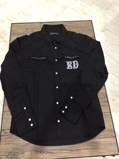 エドハーディー★シャツ☆スタッズ付き☆ブラック☆S/M/L/XLサイズ/定価19,580円_画像1