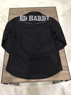 エドハーディー★シャツ☆スタッズ付き☆ブラック☆S/M/L/XLサイズ/定価19,580円_画像2