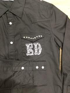 エドハーディー★シャツ☆スタッズ付き☆ブラック☆S/M/L/XLサイズ/定価19,580円_画像3