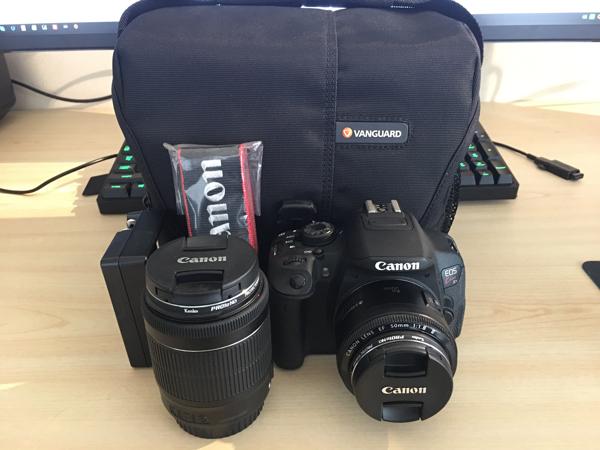 【美品】EOS kiss X7i,他レンズ2点 EF 50mm1:1.8 Ⅱ,EFS18-55mmMacro0.25/0.8ft