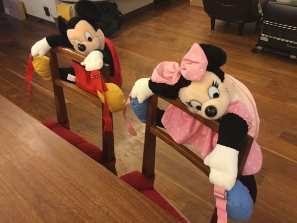 希少 ビンテージ ディズニー リュック ミッキー&ミニー ディズニーグッズの画像