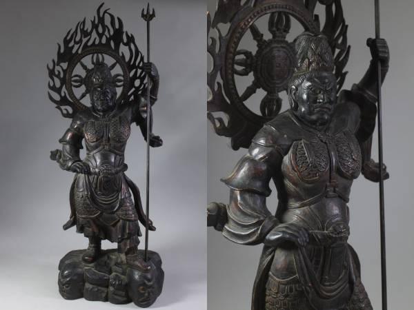 四天王 増長天 玉眼 楠 仏像 木彫 彫刻 仏教美術