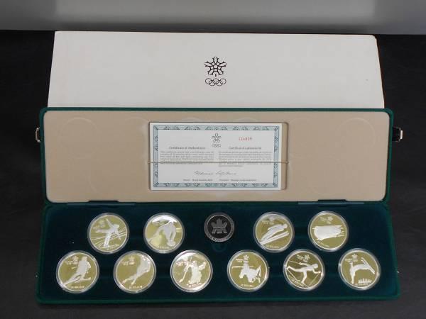 カナダ★カルガリーオリンピック★1988年★記念硬貨★20ドル銀貨★10枚セット★箱・説明書付き