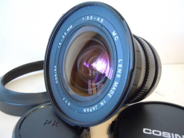 ☆希少超広角レンズ 新品級☆コシナ COSINA MF 19-35mm F3.5-4.5 pentax 付属品多数 PK