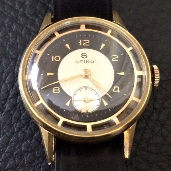 超美品 希少 昭和初期の精工舎 SEIKO 手巻式 アンティーク時計 未使用デッドストックの馬コードバン製ベルト