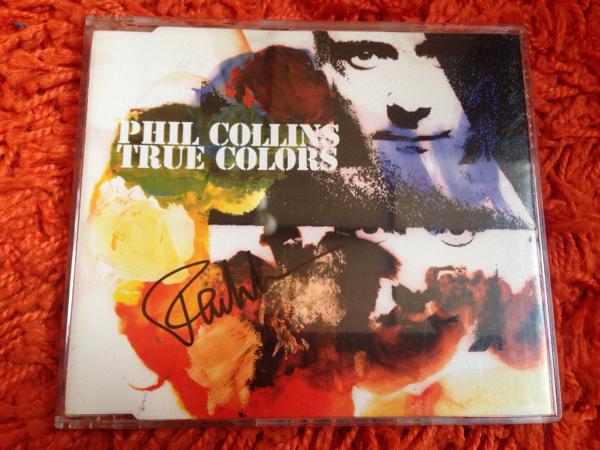 PHIL COLLIS フィル・コリンズ直筆サイン入りシングルCD 『TRUE COLORS』
