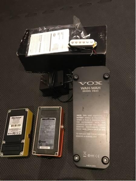 激安即決!状態良好エフェクター3点+アダプター+ダンカンPUセット!! BOSS md-2 blackstar LT drive VOX V845 美品ファミコンAD!