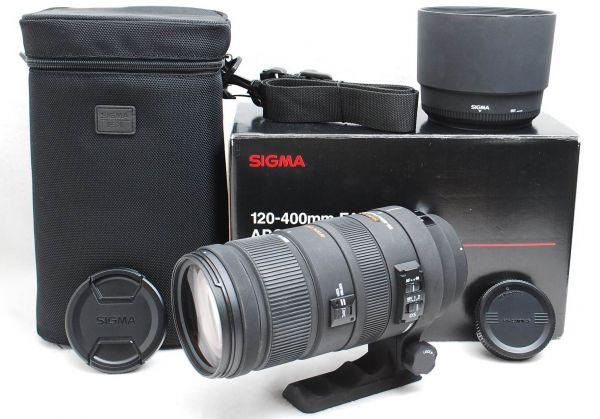 ☆美品☆ SIGMA シグマ 120-400mm F4.5-5.6 APO DG OS CANON キヤノン用 ☆