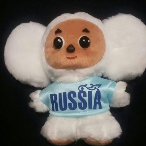 チェブラーシカ ぬいぐるみ 白 RUSSIA  グッズの画像