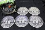 カメイガラス 中皿 5枚セット WALTHER GLAS ドイツ製 ワルターグラス プレート ケーキ皿 フルーツプレート