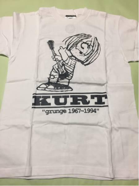 スヌーピー パロディ Tシャツ S白◆カートコバーン/ニルヴァーナ ●未着用品