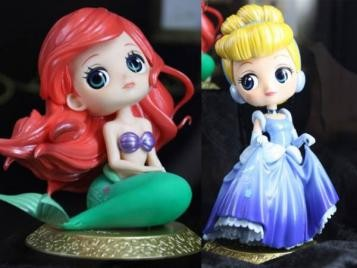 Q posket Disney Characters Special Coloring vol.2 全2種セット アリエル シンデレラ Qポスケット ディズニーキャラクターズ ディズニーグッズの画像