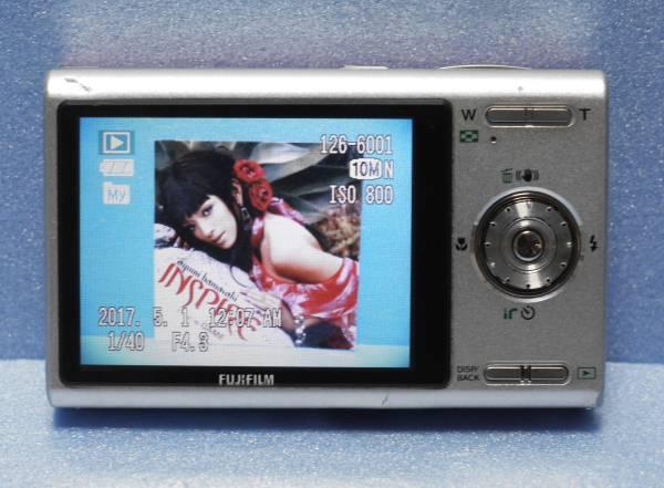 FUJIFILM 1000万画素 デジタルカメラ FinePix Z250fd レース柄ピンク 動作品