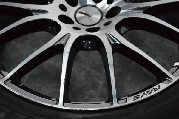 【程度良好】RAYS HOMURA レイズ ホムラ 2×7 245/45R20 8.5J +38 レクサス NX RX ハリアー ヴァンガード CX-5 ムラーノ エクストレイル_画像2