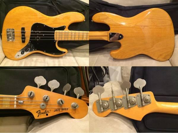 54,800円即決 Fender Japan JB75-80 Fシリアル 軽量 アッシュ MADE IN JAPAN 日本製