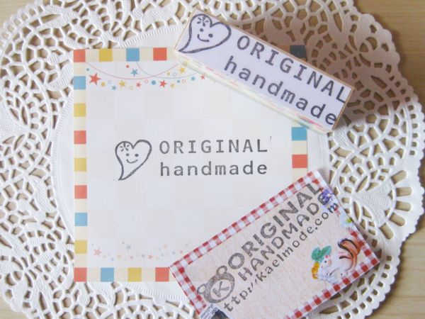 ハンドメイド スタンプ ハート お菓子作り 消しゴムはんこ orignal handmade ラッピングにも☆_お菓子に、手芸に使えます(*^_^*)