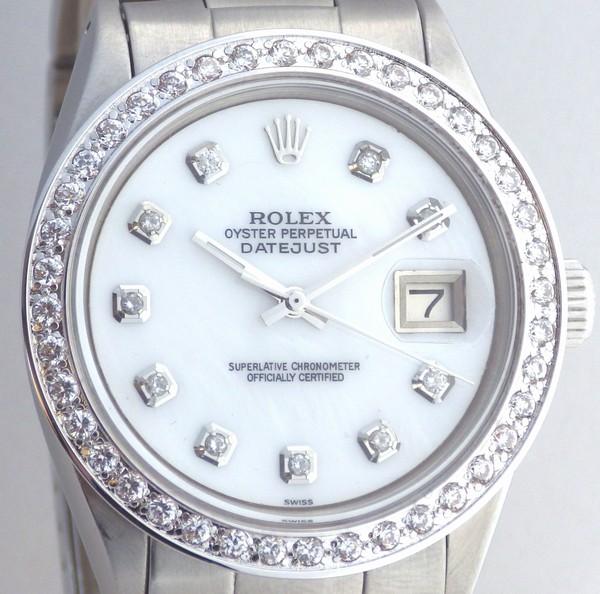 極美品 ロレックス デイトジャスト 10Pダイヤ ホワイトシェル 白MOP ダイヤベゼル Ref.1603 Cal.1570 仕上済 オイスター ROLEX DATEJUST_画像2