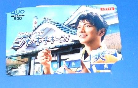 【懸賞当選品】 佐藤健 クオカード 500円分  ロッテ 爽 グッズの画像