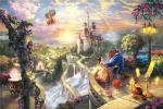 【西洋絵画】トーマス・キンケード ディズニー 美女と野獣 ワイドサイズ キャンバスプリント