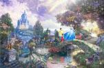 【西洋絵画】トーマス・キンケード ディズニー シンデレラ ワイドサイズ キャンバスプリント