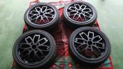 和道 桜 マッドブラック再塗装 タイヤ新古品