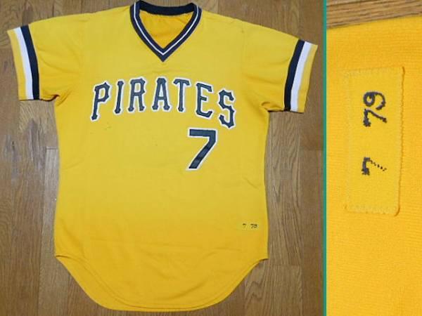 ピッツバーグ パイレーツ Pirates 1979 #7 Alternate Gold Jersey オルタネート ジャージ MLB ユニフォーム グッズの画像