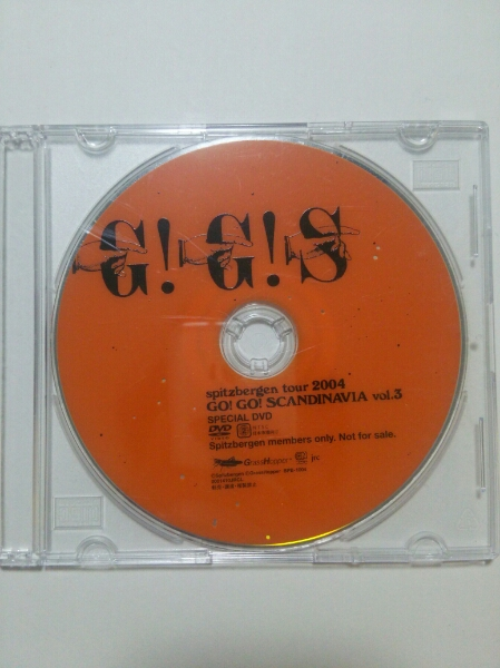 スピッツ GOスカ vol3 DVD ゴースカ SPITZ GO GO SCANDINAVIA