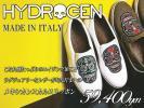 5.9万ハイドロゲン HYDROGEN メキシカンスカルワッペンが遊び心擽る!旬な佇まいのレザースリッポンシューズ 靴 イタリア製 42