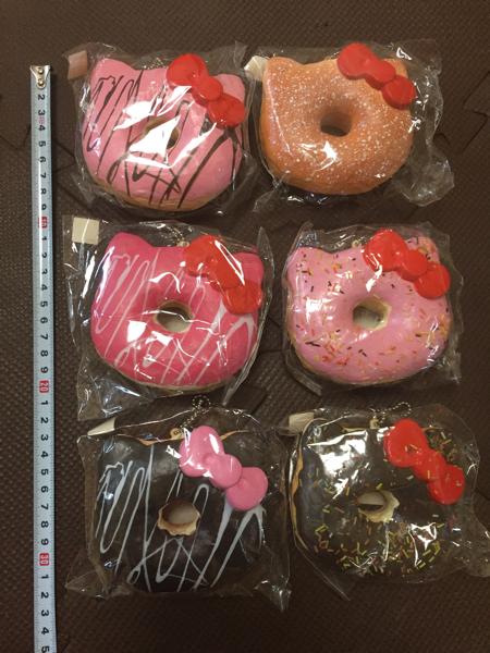 低反発 入手困難☆ 未開封 2009年 サンリオ キティ ビッグ ドーナツ スクイーズ 食品サンプル ハローキティ ハローキティー キティー グッズの画像