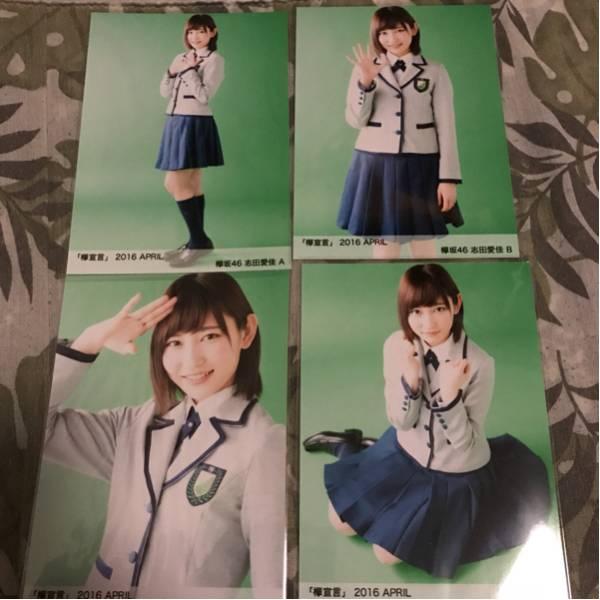 欅坂46 欅宣言 april 生写真 4種 コンプ 志田愛佳