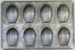 【新品未使用】CHIYODAマドレーヌ8個型 シェル貝 ケーキ天板 千代田金属工業 スイーツ 手作りお菓子 パーティー