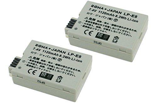 CANON キャノン EOS 550D 600D 650D Kiss X4 X5 X6i X7i Rebel T2i T3i T4i / LP-E8 互換 バッテリ- 2個セット