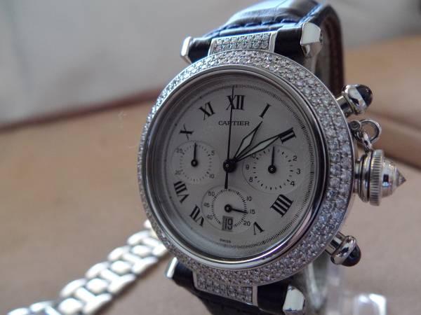 豪華パシャ38mm アフターダイヤモンド革ベルトおまけ付き_画像2