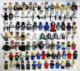 g) LEGO レゴ ミニフィグパーツ 大量 約170体分 + 馬など ジャンク [30]
