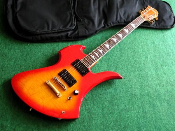 即決 FERNANDES Burny MG-105X HIDEモデルモッキンバード フェルナンデスバーニー製エレキギター ソフトケース付属