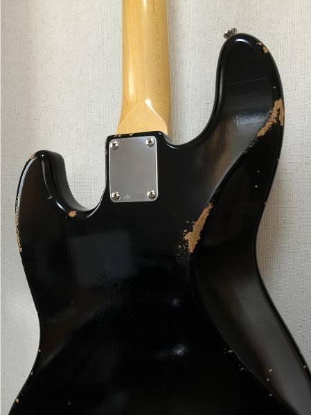 【即決】Fullertone Jay-Bee70 Black Rusted フラートーン ジャズベース70年代 ラステッド(レリック)加工【美品】【良音】